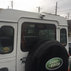 land rover rear vision camera installed