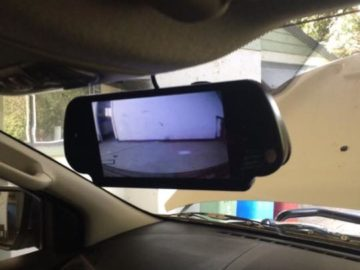 reversing camera monitor installations