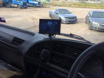 Truck & Heavy Machinery reversing camera monitor Installations
